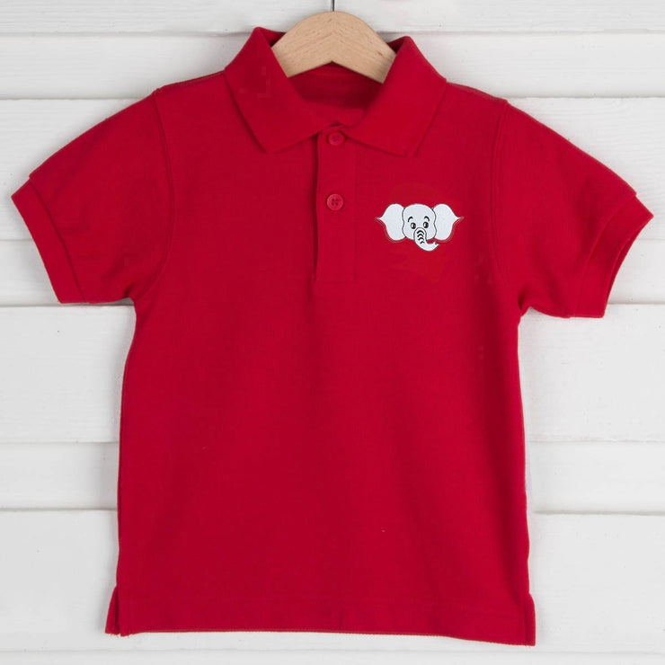 Elephant Embroidered Game Day Polo
