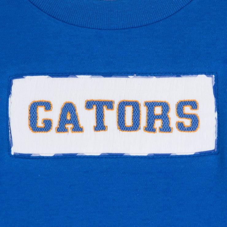 Gators Smocked Shirt Blue Knit