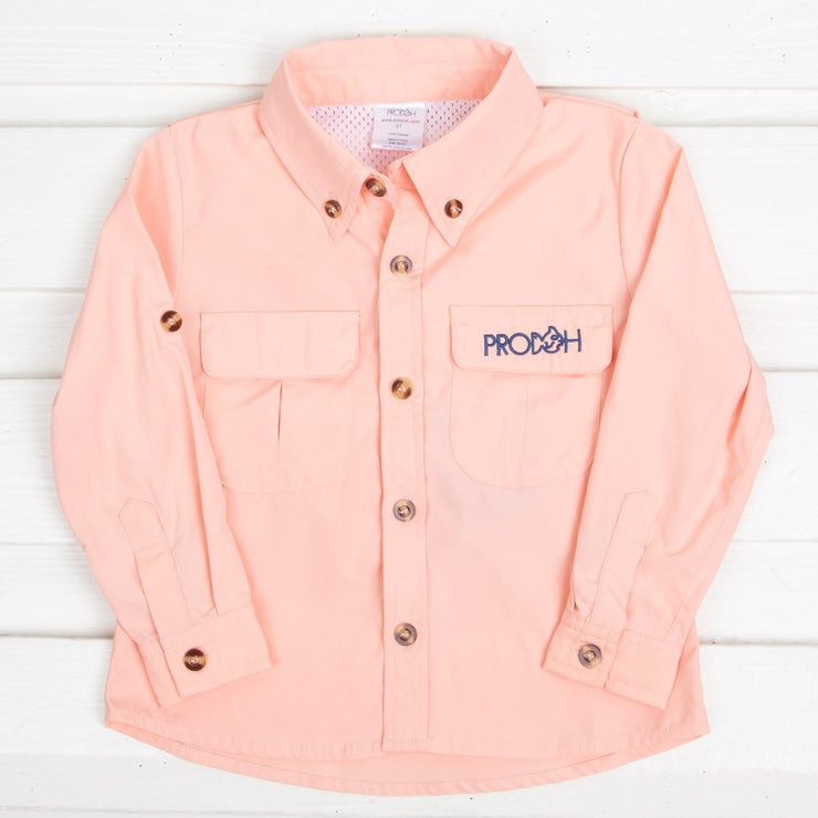 Girls Fishing Shirt Light Orange