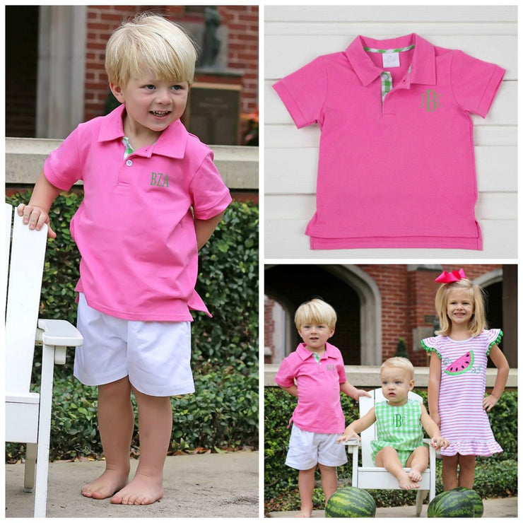 Hot Pink Knit Polo