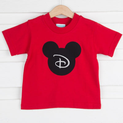 Knit Mouse Ears Shirt Red
