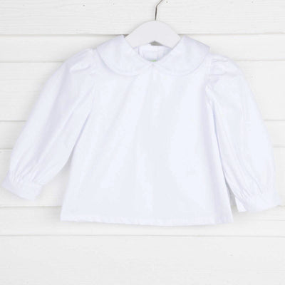 Long Sleeve Girl Undershirt White