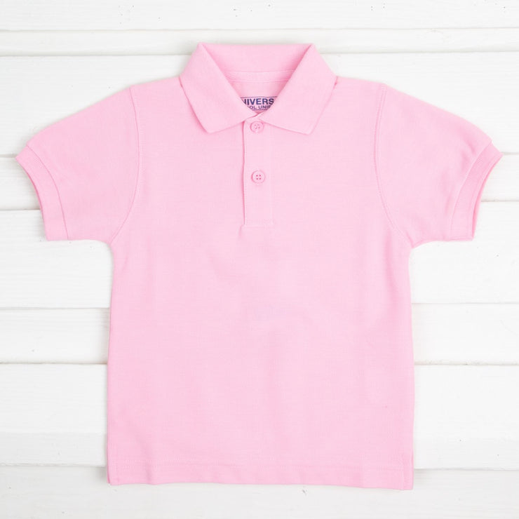 Pink Short Sleeve Polo w Monogram