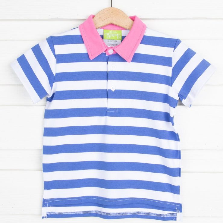 Polo Blue and White Stripe