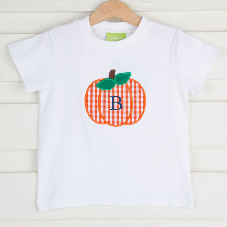 Pumpkin Check Short Sleeve Shirt Knit White