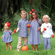Pumpkin Patch Smocked Long Sleeve Shirt White Knit