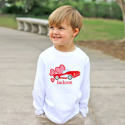 Red Car Long Sleeve Shirt