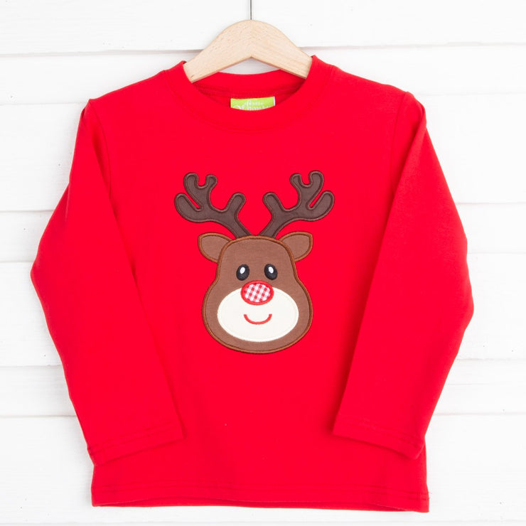 Red Reindeer Long Sleeve T Shirt