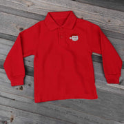 Santa Long Sleeve Polo Red