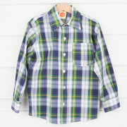 Scottish Plaid Button Up Shirt