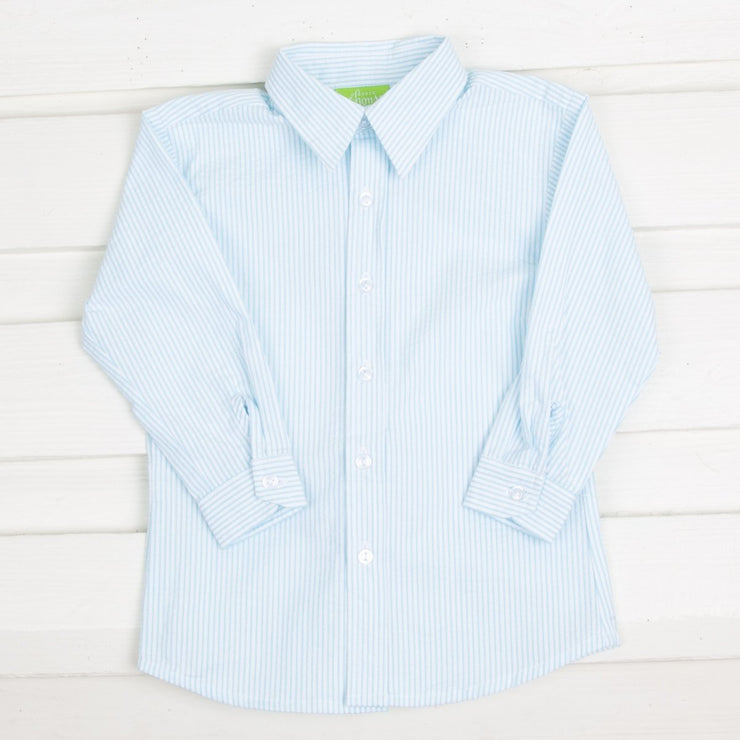 Sky Stripe Boys Button Down