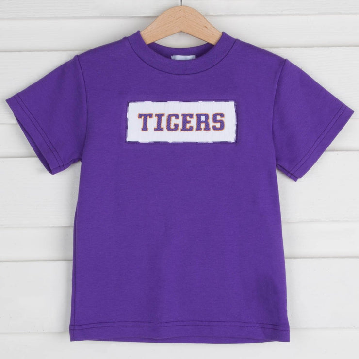 Tigers Smocked Shirt Purple Knit