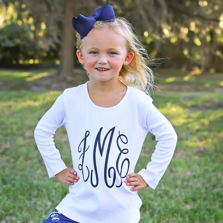 Vinyl Personalized White Tunic