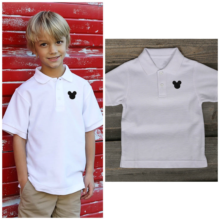 White Mouse Ears Short Sleeve Polo