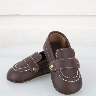 Brown Leather Crawling Deck Shoe