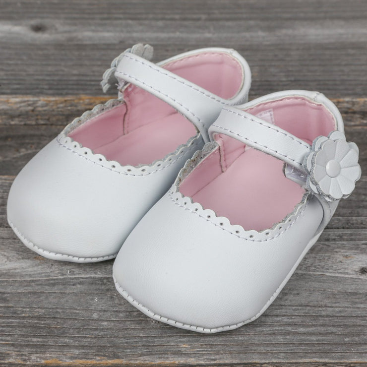 Leather Crawling Shoes White