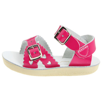 Shiny Fuchsia Sweetheart Sandals