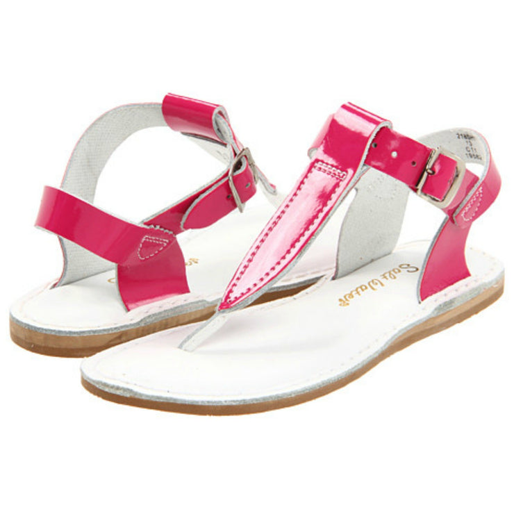 Shiny Fuchsia T-Thong Sandals
