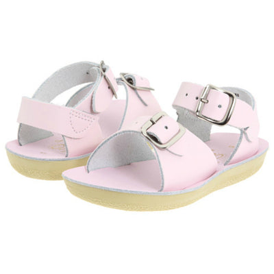 Shiny Pink Surfer Sandals