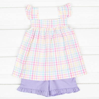 Rainbow Plaid Amy Short Set