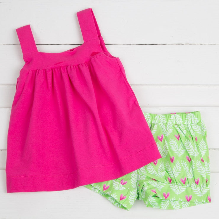 Tropical Amy Short Set Pink & Green
