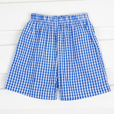 Gingham Shorts Royal Blue