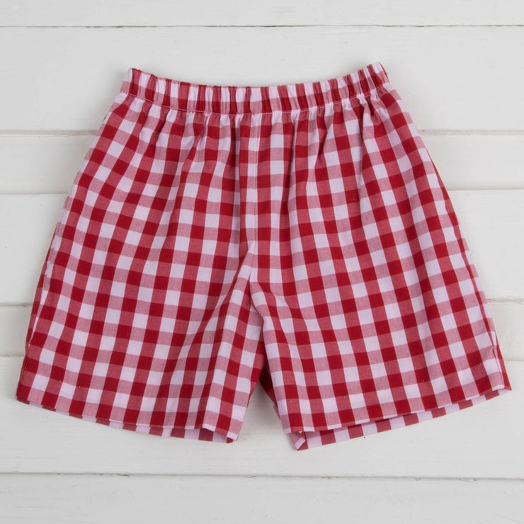 Red Check Shorts