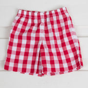 Red Picnic Check Shorts