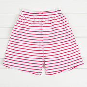 Red Striped Shorts Knit