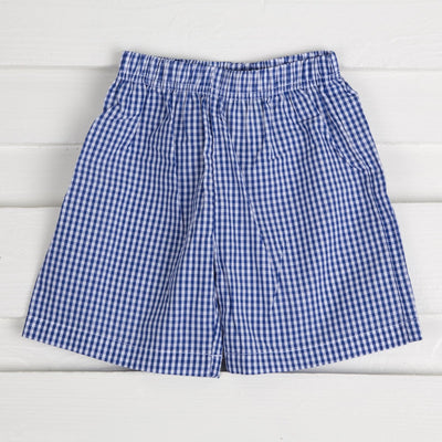 Royal Blue Gingham Shorts