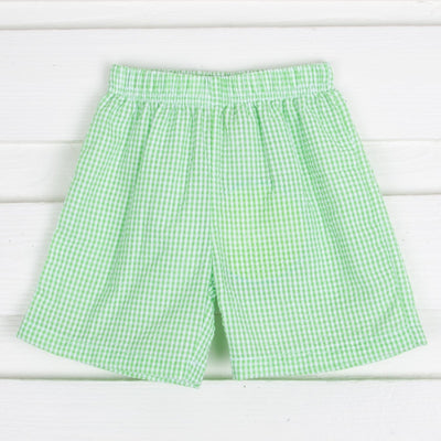 Seersucker Shorts Green