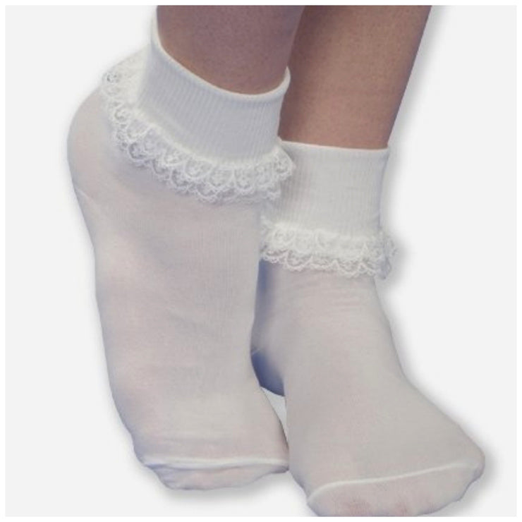 Double Row Lace Cuff Socks