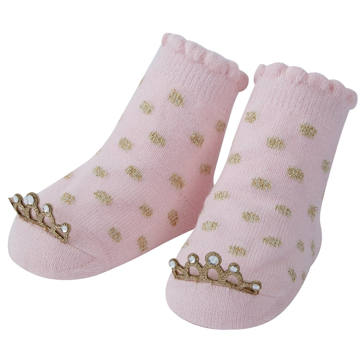 Gold Polka Dot Crown Socks