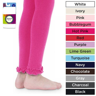 Pima Cotton Ruffle Footless Tights