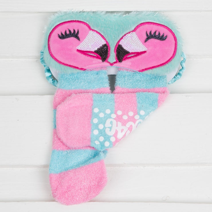 Plush Sleep Mask and Sock Set