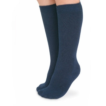 Unisex Seamless Navy Knee High Socks