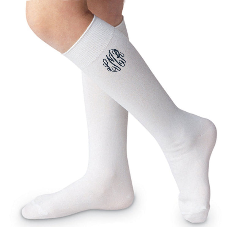 Unisex White Knee High Socks
