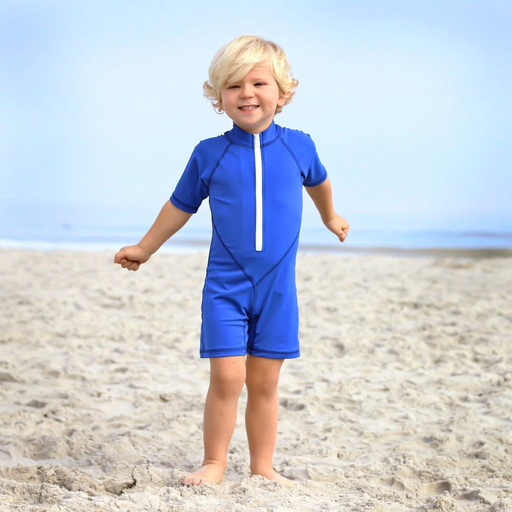 Boys Sunsuit Royal Blue