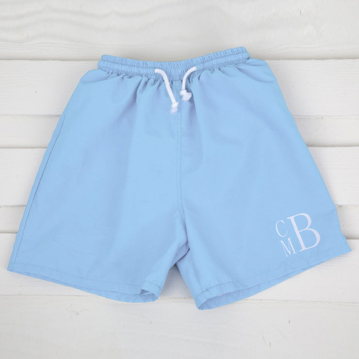 Light Blue Swim Micro Fiber Board Shorts