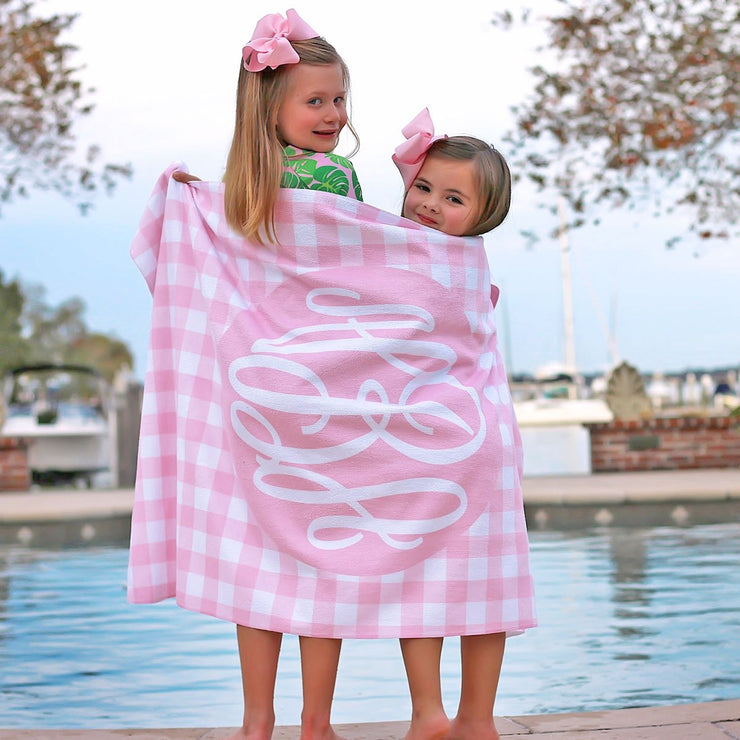Personalized Gingham Towel