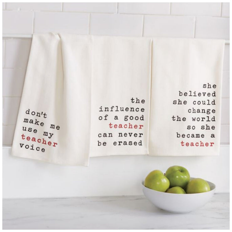 She Believed Teacher Dish Towel
