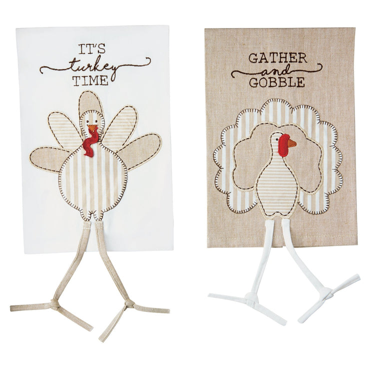 Striped Dangle Leg Turkey Towels