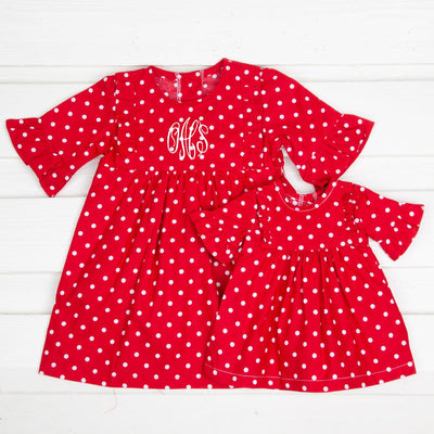 Doll Olivia Dress Red Polka Dot