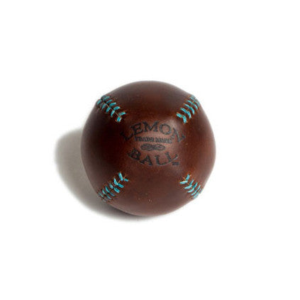 LEMON BALL™ Brown Leather Turquoise Stitch Baseball