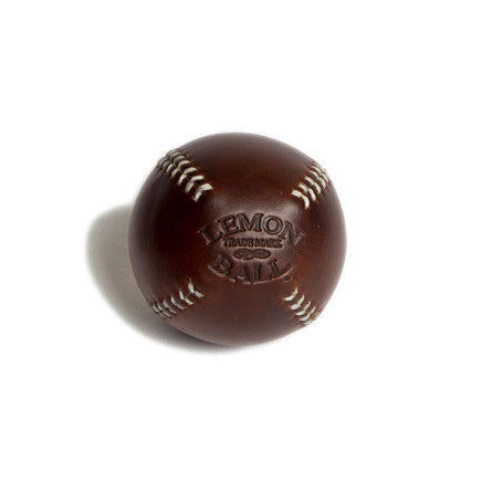 LEMON BALL™ Brown Leather White Stitch Baseball