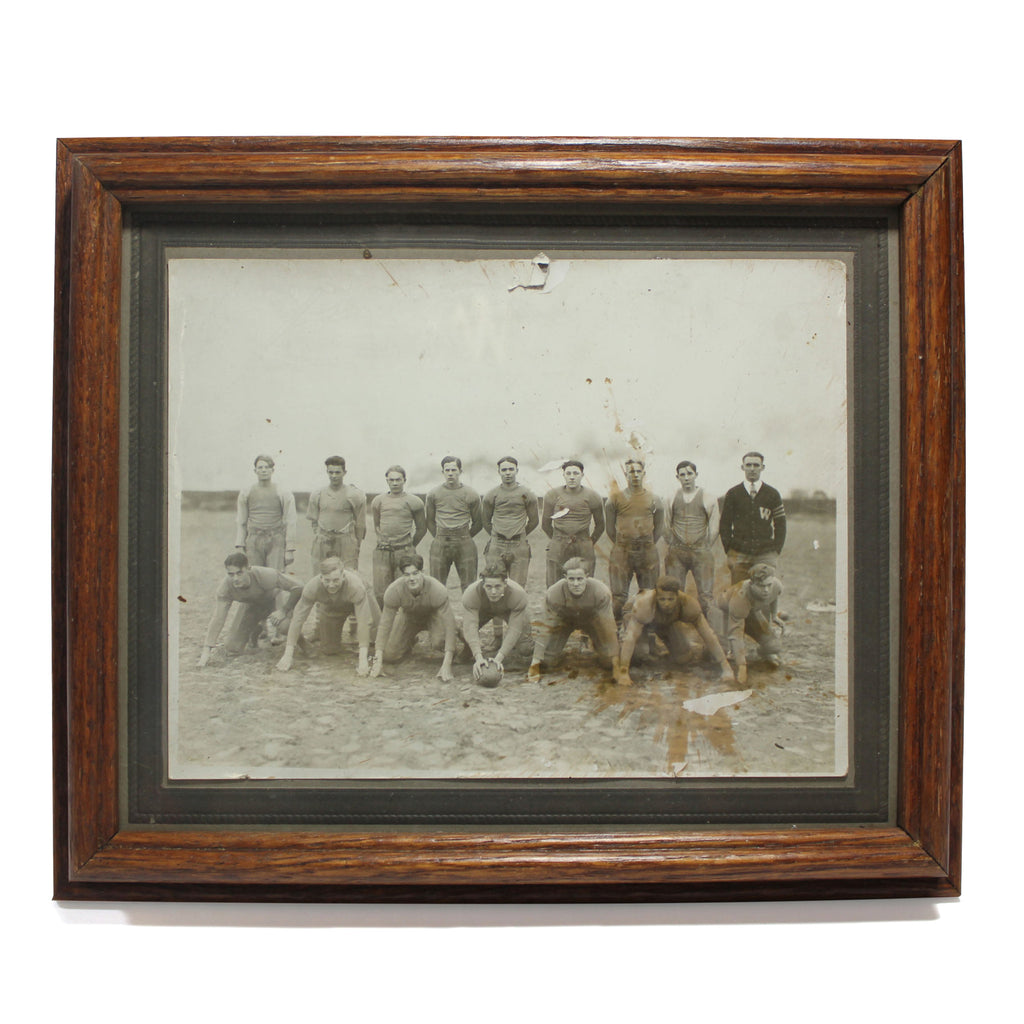 Old Timey Framed Football Photo