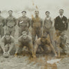 Old Timey Framed Football Photo, detail