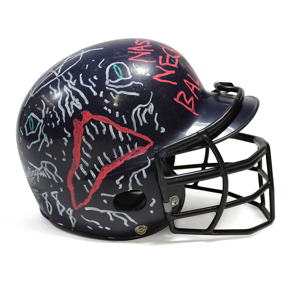 Neck Face helmet side view