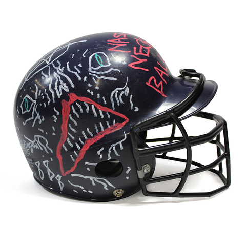 Neck Face Custom Painted Softball Helmet