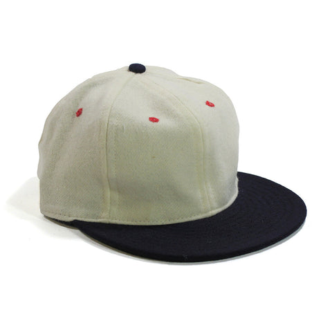 Spikes High White/Navy Contrast Ball Cap